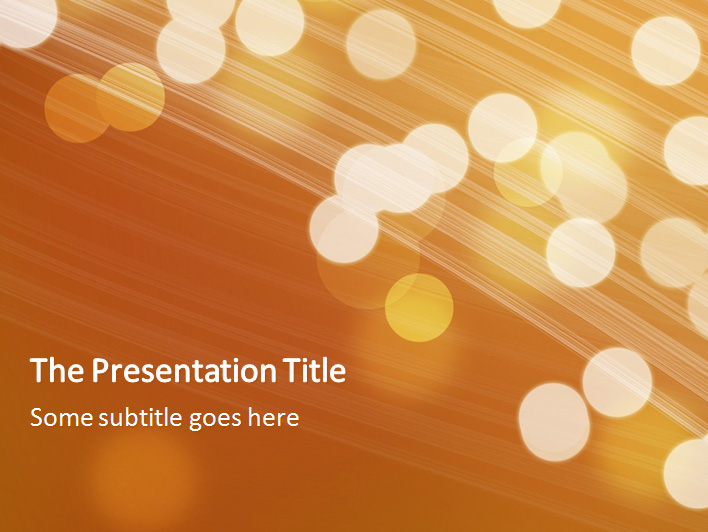 Light Bubbles Orange Professional PowerPoint Templates