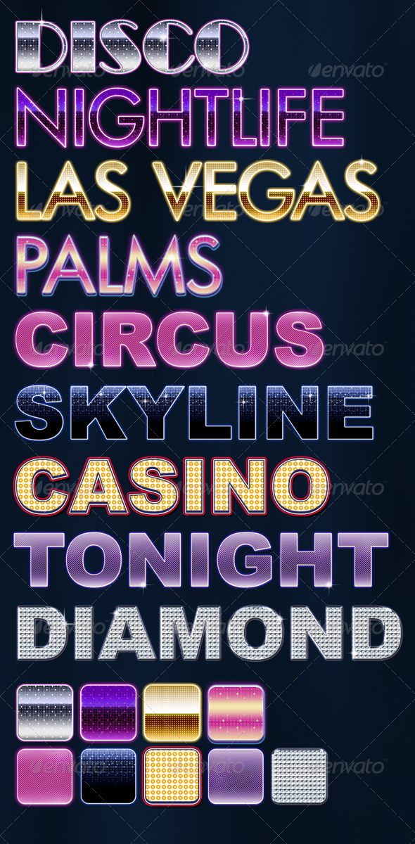 Vegas Party Styles - Text Effects Styles