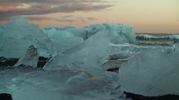 VideoHive Melted Icebergs On The Beach 19126893