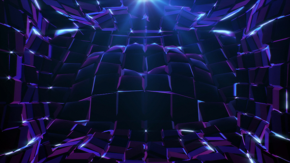 VideoHive Purple Cubes Waves 19127319