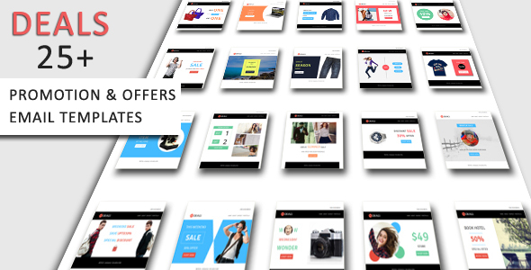 Deals - Complete Set of Product Promotion, Offers Email Templates Pack