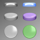 Angled 3D buttons with realistic push look - ActiveDen Item for Sale