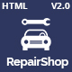 RepairShop - Car Repair & Car Wash Responsive HTML5 Template
