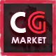 Dance CGMarket - 3D Model Marketplace Design PSD Template