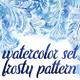 Watercolor Set Frosty Patterns