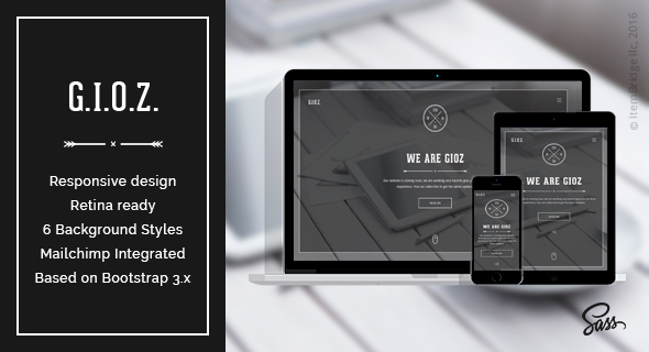 Gioz — Inventive Coming Quickly &amp Upkeep Mode Template (Specialty Pages)