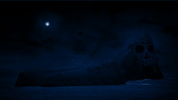 Download Scary Skull Island With Moon Above nulled download
