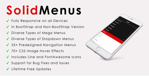 SolidMenus | BootStrap & Non-BootStrap Responsive Mega Menu