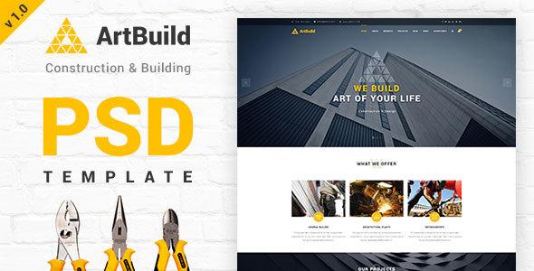 ARTBUILD | Construction & Building PSD