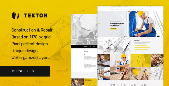 Tekton — Construction and Repair PSD Template