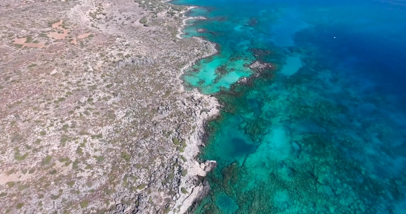 VideoHive Beautiful View of Blue Beach Elafonissi at Crete 19136572