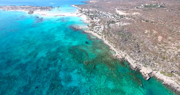 VideoHive Beautiful View of Blue Beach Elafonissi at Crete 19136574