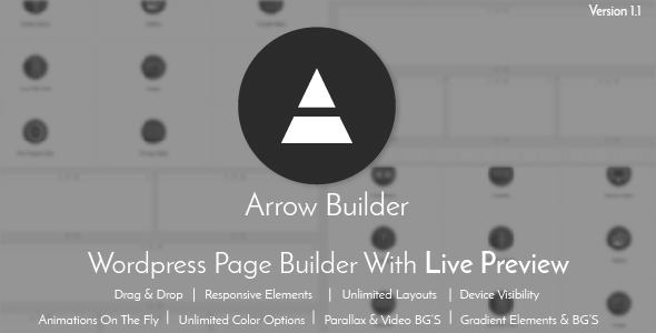 Arrow Builder - Wordpress Page Builder with Live Preview - CodeCanyon Item for Sale