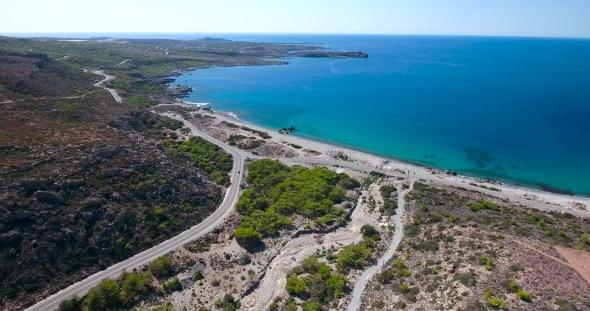 VideoHive Road Through Mountains To Sea at Crete Greece 19136720