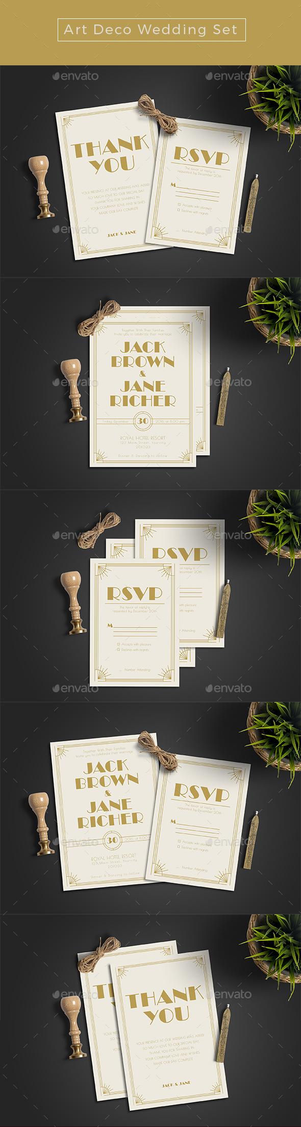 Classic Wedding Invitation Set