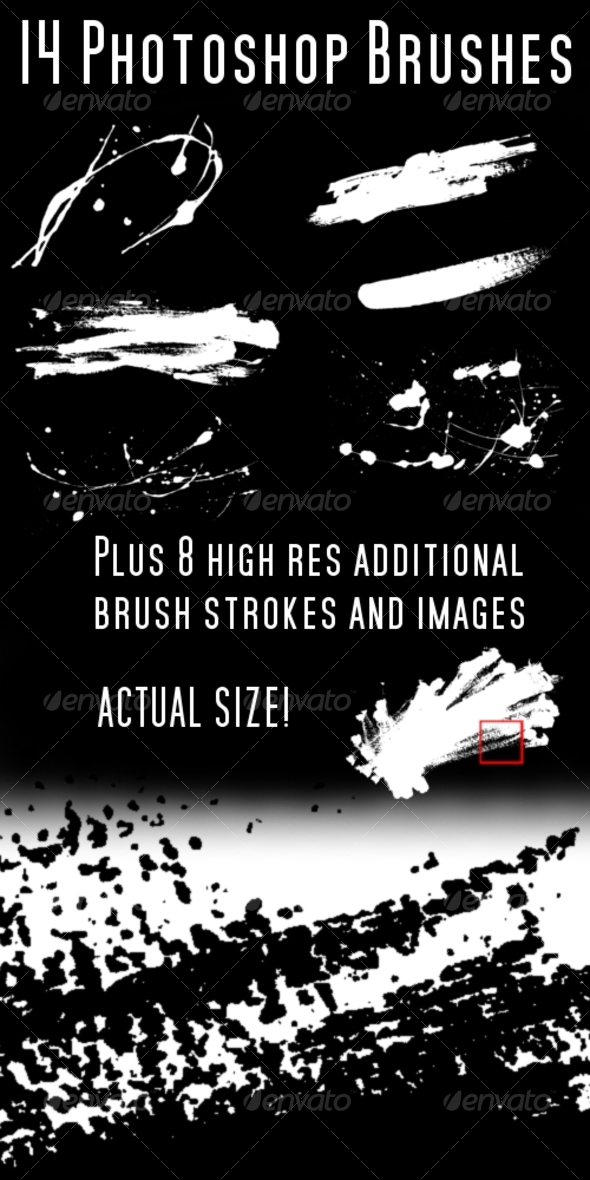 GraphicRiver Photoshop Brush and Splats Brush Pack 70365