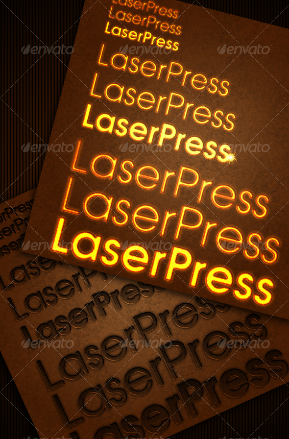 GraphicRiver laser pressed text style 72022