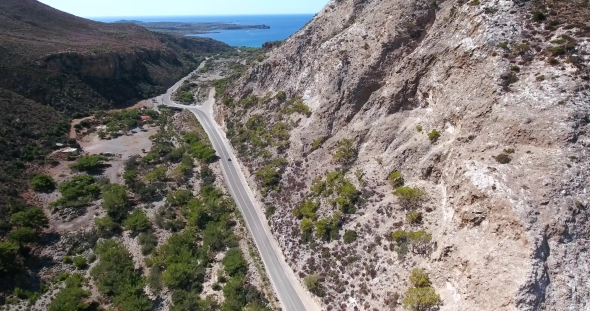 VideoHive Road Through Mountains To Sea at Crete Greece 19137823