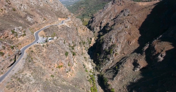 VideoHive Deepg Gorge in Mountains at Crete 19137826
