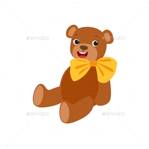 Teddy Bear With Yellow Bow Kids Birthday Party