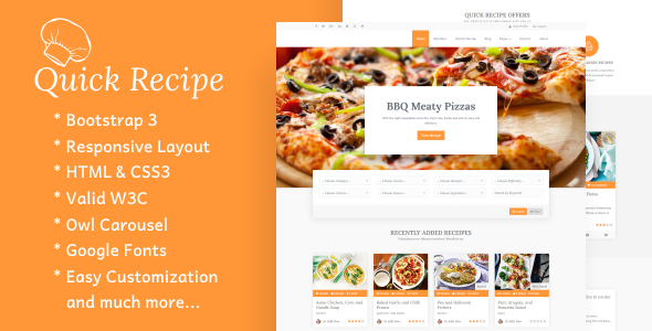 Download Quick Recipe - Food & Recipes WordPress Theme nulled download