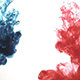 Ink in Water Red Blue