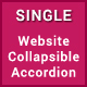 Single - Responsive Website Collapsible Accordion