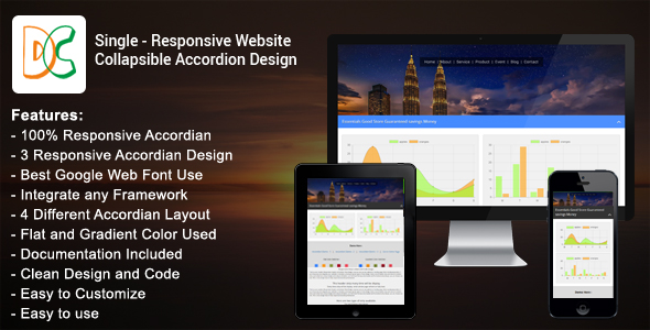 Download Single - Responsive Website Collapsible Accordion nulled download