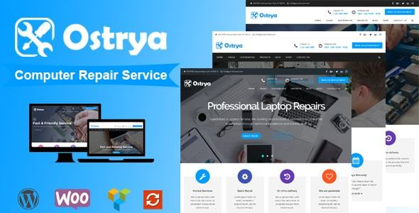 Download Ostrya - Computer Repair Service WordPress Theme nulled download