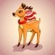 Christmas Cartoon Deer