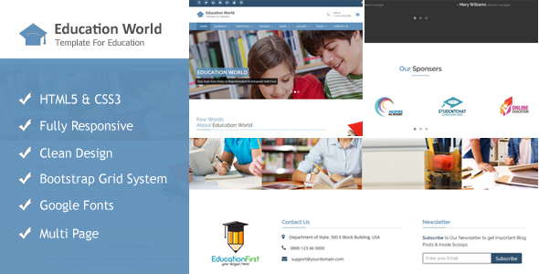 Download Education World Responsive Html Template