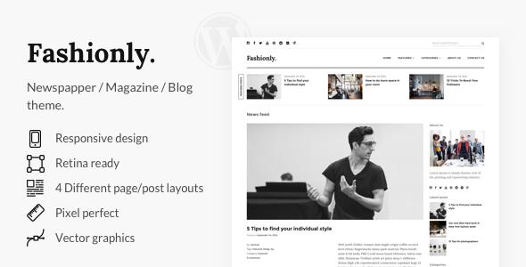 Download Fashionly - Responsive WordPress Blog Theme