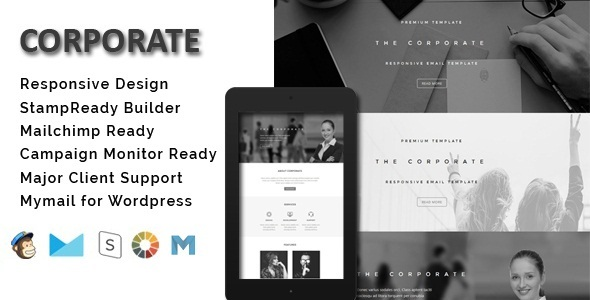 Corporate - Responsive Email Template + Stamp Ready Builder