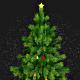 Rotating Card Christmas Tree with Magical Snow Fall