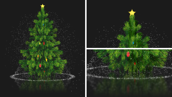 Download Rotating Card Christmas Tree with Magical Snow Fall nulled download
