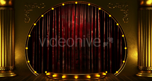 stages with curtain an lights
