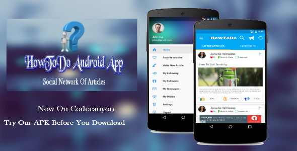 Download HowToDo Android App :- Social Network of Articles nulled download