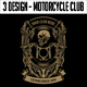 3 Design - Motorcycle Club T-shirt