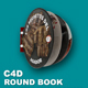 Round Book Animated (C4D ready for render)