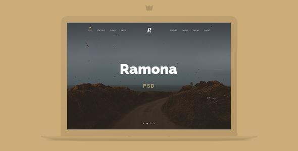 Ramona Creative Studio PSD Template
