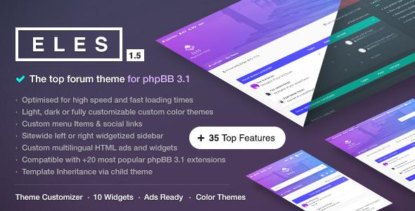 Eles - Responsive phpBB 3.1 Theme
