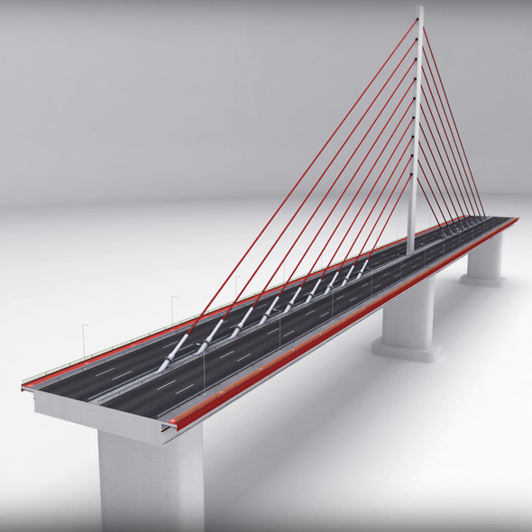 Suspended Bridge single - 3DOcean Item for Sale
