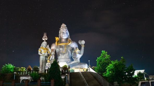VideoHive God Shiva in Murudeshwar at Night 19147095