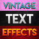 10 Vintage Photoshop Text Effects