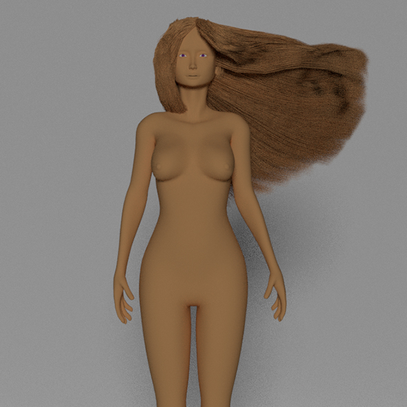 3DOcean Cute topology low poly woman 19147988