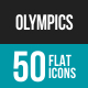 Olympics Flat Multicolor Icons