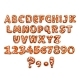 Christmas Gingerbread Alphabet Letter and Digits