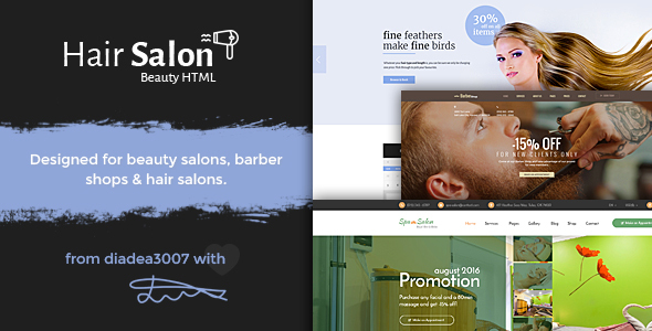 Hair Salon - Beauty PSD Template