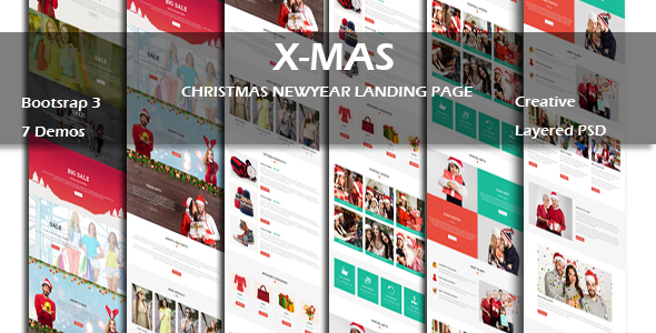 Download X-MAS - Multipurpose Responsive HTML Landing Page nulled download