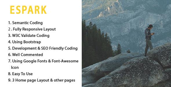 Download ESPARK Onepage Multipurpose HTML5 Template